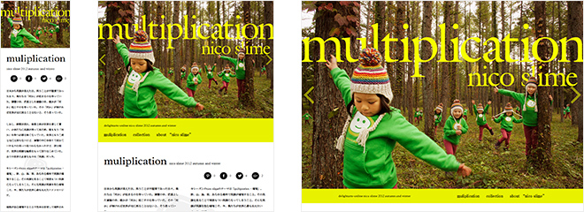 nicoスライム 2012 autumn and winter