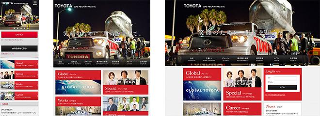 TOYOTA新卒採用ホームページ 2015