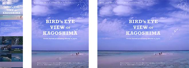BIRD'S EYE VIEW OF KAGOSHIMA
